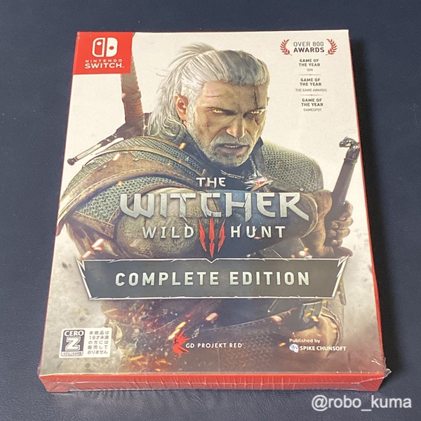 Nintendo Switch版『ウィッチャー 3 ワイルドハント コンプリートエディション』購入。PS4版持っているけど、寝転んでゲラルトと冒険だ(*`・ω・)ゞ。