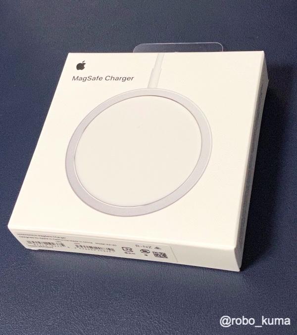 Apple新型のワイヤレス充電器、「Apple MagSafe充電器」購入。一応、iPhone 11 Pro Maxでも充電できる。