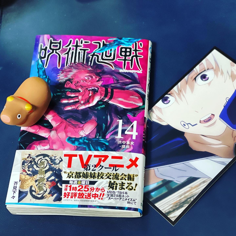 呪術廻戦 14巻。(iPhone 12 Pro Max ポートレート)