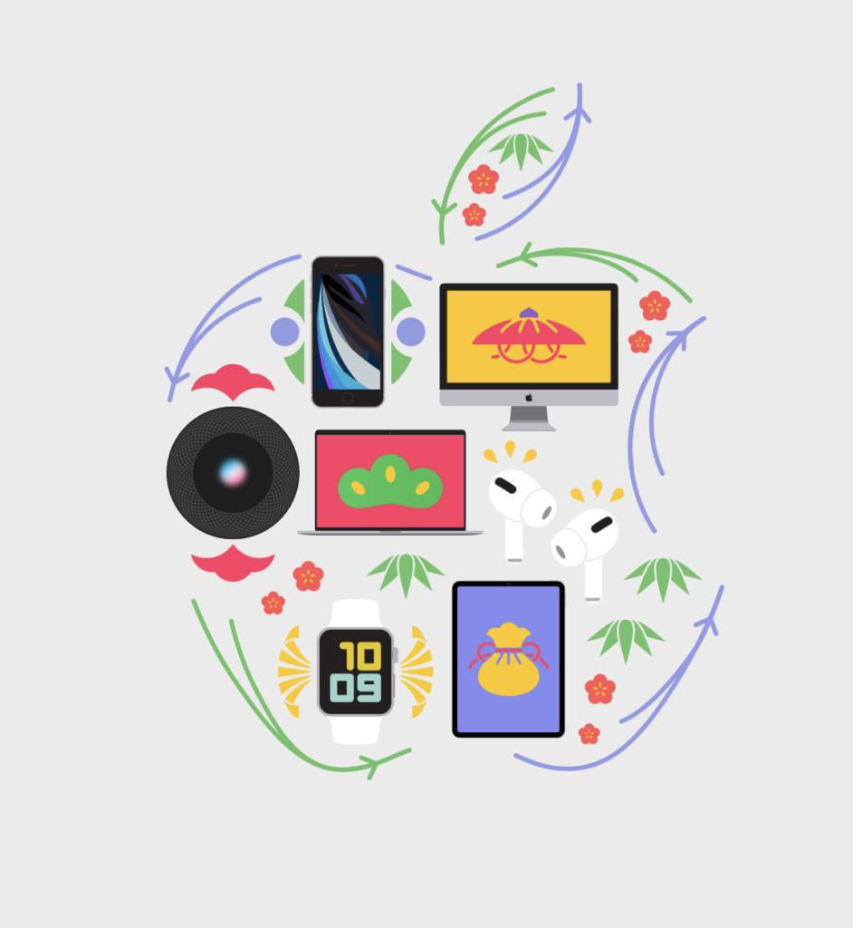 Apple 2021年初売り開催中。1月3日まで。対象商品はギフトカードが貰える。AirPods Pro、AirPodsがお買い得です。