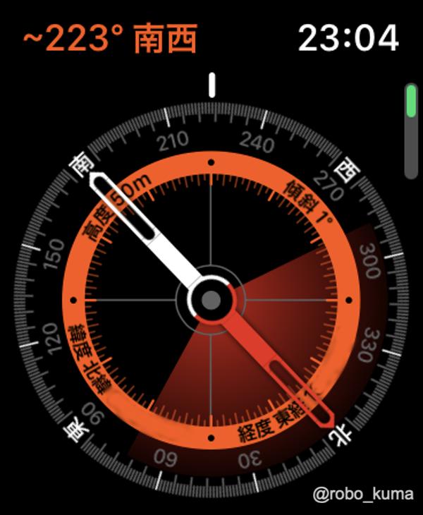 Apple Watch「コンパス App」で方向がズレたときの修正方法。