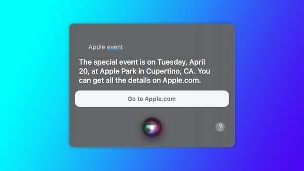 Apple、4月20日に新製品のイベントを開催。Siriがリーク。