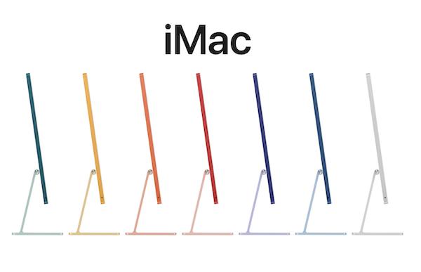 Apple、Apple イベント「Spring Loaded.」で、M1チップ搭載でTouch ID搭載Magic Keyboardも選べる、新型24インチ iMacを発表。販売は5月後半。