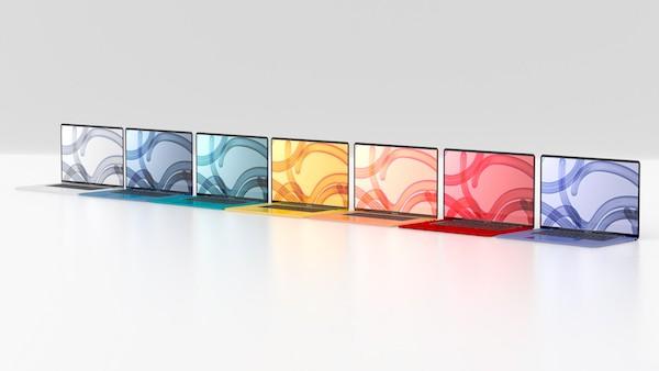 24インチiMacが多色化したのだから、MacBook シリーズも多色化してもおかしくない!と思う。(安易だが)