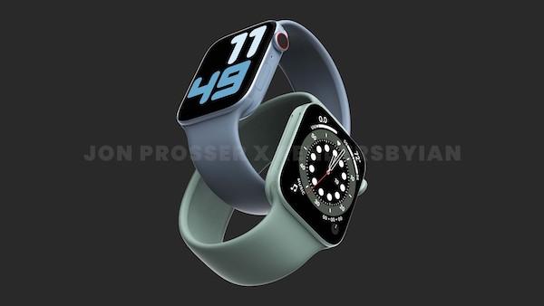 Apple Watch Series 7 はサイドがフラットデザインでグリーンの色が追加される?噂。
