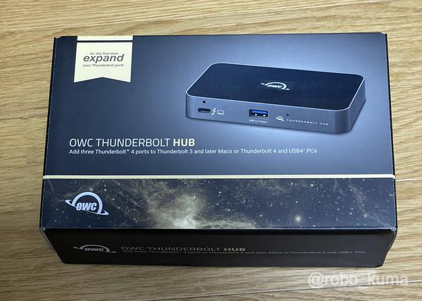 時代はThunderbolt 4だよ! 「OWC Thunderbolt Hub(Thunderbolt 4対応 3ポートハブ)」購入。本体は小さくても高性能です(*`・ω・)ゞ。