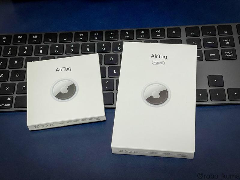 「AirTag 4個入り 刻印あり」購入(*`・ω・)ゞ。使うのが持った無い美しいデバイスです。