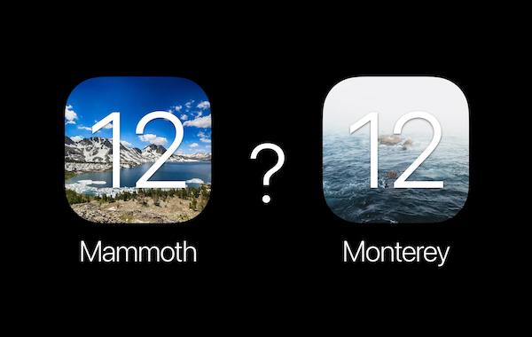 macOS 12 の名前は「Mammoth(マンモス)」または「Monterey(モントレー)」か? Appleの商標から示唆。