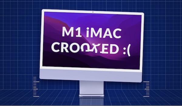 一部の24インチiMacでマウントが曲がって出荷されている?  私のiMacは問題無かったが、強度的な不具合も考えられる。