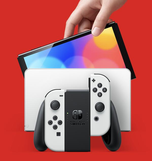 任天堂、「Nintendo Switch(有機ELモデル)」を2021年10月8日に発売。7インチ有機ELディスプレイとストレージ64GB以外は従来モデルと同性能。
