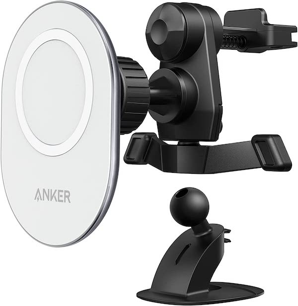 「Anker Magnetic Car Mount 車載ホルダー」購入。iPhone 12 Pro MaxをMagSafeで固定して使う。充電機能ナシの方です。