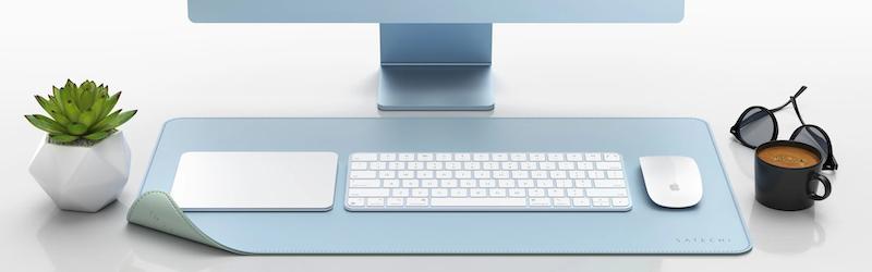 Satechi、PUレザーデスクマット「DUAL SIDED ECO-LEATHER DESKMATE」を米国で発売開始。リバーシブルでオシャレなデスクマットです。